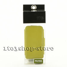Sena WalletBook Leather Slim Thin Case Cover for iPhone 3G/3GS Green Brand NEW