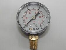 1.1/2 in Dia  ( 40mm ) 1/8 Bsp Bottom Entry Air Pressure Gauges Multi Listing,