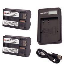 2pcs 2000mAh BP-511A Battery for Canon EOS-300D /30D /40D /50D + USB Charger