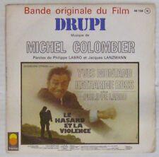 Le hazard et la violence 45 tours Montand Colombier Labro 1974