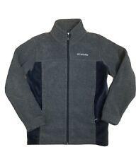 Columbia Youth Boys Girls Fleece Zip-Up Jacket Grey Large (14/16)