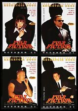 PULP FICTION CineMasterpieces SET OF FOUR BRITISH UK ORIGINAL MOVIE POSTERS 1994