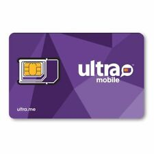 Ultra Mobile Triple Punch Sim card for International calling Plans (unfunded)