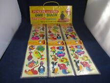 Penguin and Fish One Touch Tattoo Stickers Retro 1983 Store Display w/30 packs!