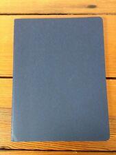 "New Blank Moleskine Navy Blue Saddlestitch Notebook Graph Paper 7.5"" X 9.75"""