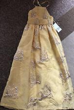 Zara vestido de edición limitada con Fruncido Midi Amarillo 7791/674 XS-L