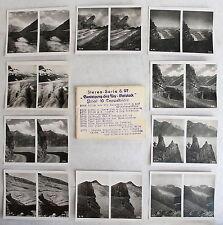 10 Doppelbilder Stereofotos S.97 Besteigung des Ury-Rotstocks Schweiz um 1920 xz