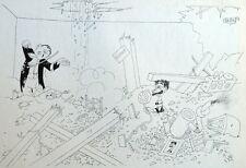 Guerre WW2 Explosion Bombe Concert Musique Caricature Albert Dubout 1944