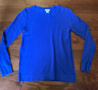 J. Crew Women's Size Small 100% Cotton Blue Sweater Top