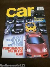CAR MAGAZINE - PERFORMANCE CAR OF THE YEAR - NOV 2000