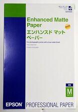 Papier Epson Enhanced Matte Paper A3+ 100 feuilles 192g S041605