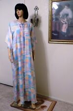 LUCIE ANN *RARE* vintage SATINY SUMMER PASTEL PRINT PEIGNOIR SET size M medium