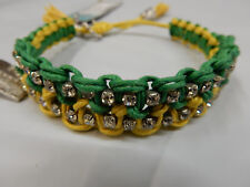 ROSE GONZALES WOVEN BRACELET RB22 LINDSEY GREEN YELLOW