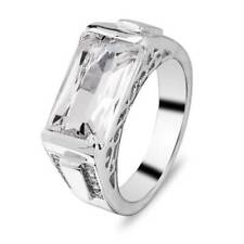925 Silver Ring Dazzling White Sapphire Proposal Ring Women Wedding Jewelry Gift