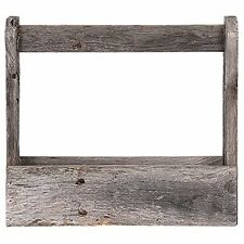 BarnwoodUSA Rustic Wooden Tool Caddy/ Tote - 100% Reclaimed Wood, Weathered Gray
