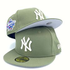 Yankees World Series 1998 59FIFTY New Era New Olive Fitted Hat Cap Gray Bottom