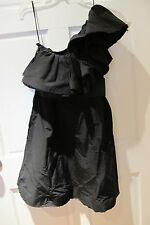 LANVIN X H&M One Shouldered Ruffled Black Dress Sz 38/6 Cocktail LBD