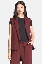 Theory Adar Sleeveless Blazer Size 6 Color Beetroot NWT Made In USA $325