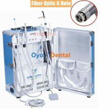 Portable Dental Unit Mobile With Compressor Scaler Curing Light Fiber Optic