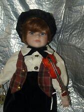 R F Colección Muñeca De Porcelana Niño violinista кукла BAMBOLA Puppe Muñeca