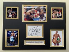 "Boxing Jermain Taylor Signed 16"" X 12"" Double Mounted Display"