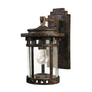Maxim Santa Barbara VX 1-Light Outdoor Wall Lantern Sienna - 40033CDSE