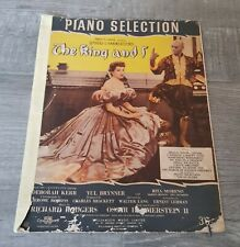 The King And I Sheet Music Book Piano Selection Vintage