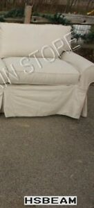 Pottery Barn Basic Sofa Sectional slipcover RIGHT ARM CHAIR NATURAL TWILL FABRIC
