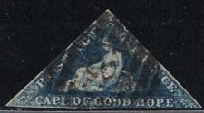 """Cape Of Good Hope 2 """"Hope"""" Seated (used) Triangle 1853"""