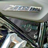 YAMAHA XJR 1300 07on LOGO BLACK POLISHED STAINLESS SIDE PANEL COVERS XJR1300