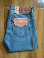 NEW LEVI 501 MID BLUE STRETCH DENIM JEANS SIZE 30 in X 30 in