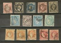 EARLY SPAIN LOT QUEEN ISABELLA II; DEFINITIVES / OLD INTERESTING