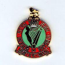 Enamel Lapel Badge Queens Royal Irish Hussars