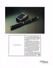 PUBLICITE  1976   DUPONT  stylo plume & briquet en laque de Chine