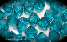 Swarovski Crystal #5301 3mm Indicolite Bicone Beads  60pcs Teal Green