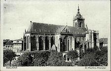 Kolmar Colmar Elsass 1942 Dt. Reich gelaufen Blick auf St. Martins Münster