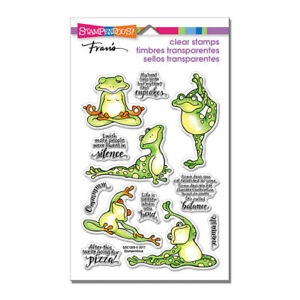 YOGA FROG & Sayings CLEAR Unmounted Rubber Stamp Set STAMPENDOUS SSC1269 New