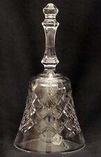 Large 6-Inch Well Made Cut Crystal Bell - X, Criss-Cross or Pineapple Pattern