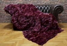Luxury Real Fur Fox Throw Blanket