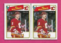 2 X 1988-89 OPC # 231 FLAMES AL MACINNIS EX-MT CARD (INV# C2590)