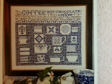 Rosewood Manor Cross Stitch Chart China Blue Sampler by Karen Kluba
