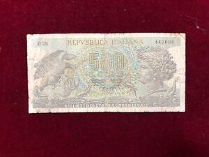 Repubblica Italiana 500 Lire Testa di Aretusa decr. 23-04-1975  BI.553 RRR !