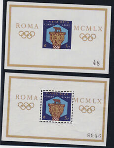 costa rica 1960 Sc C313 olympics,roma,two s/s ,perf.imperf,MNH     r2241