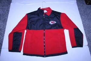 Youth Kansas City Chiefs M (8/10) Fleece Jacket (Red/Black) NFL Team Apparel