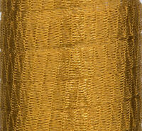 1 METRE DARK GOLD METALLIC WIRE MESH RIBBON FROM MENONI ITALY, LIKE WIRELACE
