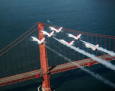 THUNDERBIRDS FORMATION OVER GOLDEN GATE BRIDGE 11x14 SILVER HALIDE PHOTO PRINT