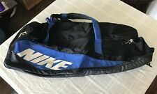Nike Soft Black Blue 36� Baseball/Softball Bat Equipment Duffel Bag Ts8