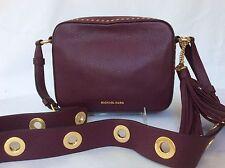 Michael Kors Black Leather Brooklyn  Camera Bag Messenger Crossbody NWT