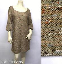DIANE von FURSTENBERG SENS Metallic TWEED BOUCLE Knit Sweater Dress 8 M RARE NWT