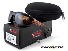 NEW 7eye Panoptx DIABLO POLARIZED Sunglasses | Flames / SV Polar Copper Lens